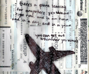 plane, travel, and quote image