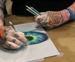 tattoo, eye, and art image