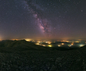 landscape, universe, and milky way image
