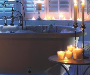 candle light, lifestyle, and relax image