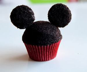 cupcake, mickey, and mickey mouse image