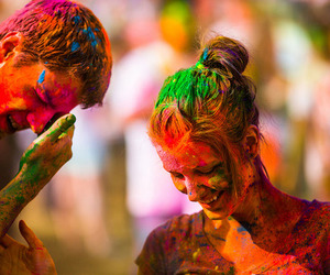 boy, colors, and couple image