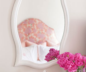 pink, flowers, and interior image