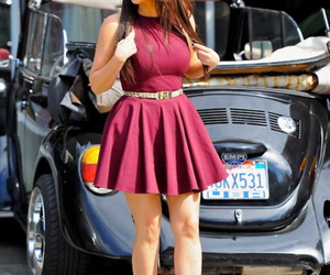 kim kardashian, dress, and red image