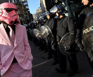 pink, police, and darth vader image
