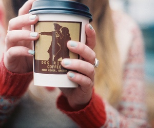 coffee, girl, and nails image