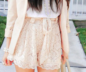 fashion, pink, and lace image