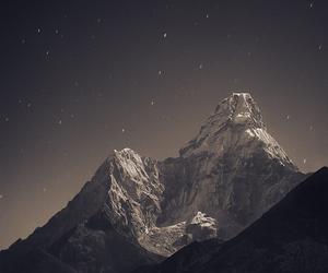 beautiful, night, and mountains image