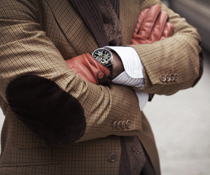 fashion, watch, and gloves image