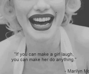 girl, quote, and Marilyn Monroe image