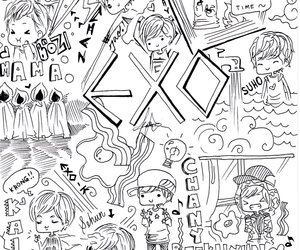 cartoon, Chen, and exo-m image