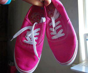 pink, vans, and photography image