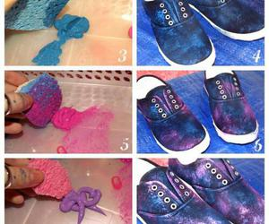 diy, shoes, and galaxy image