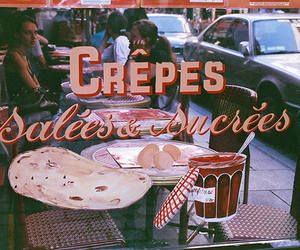 crepes, cafe, and france image