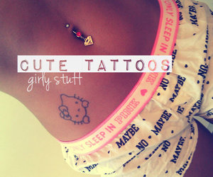 belly, girly, and hello kitty image