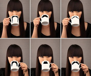 mustache, moustache, and mug image