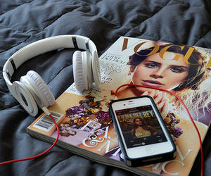 lana del rey, vogue, and music image
