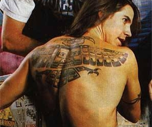 anthony kiedis, tattoo, and red hot chili peppers image