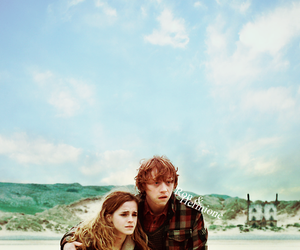 harry potter and ron and hermione image