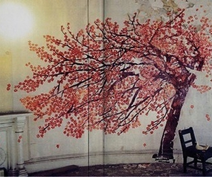 paint, tree, and wall image