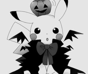 pikachu, Halloween, and pokemon image