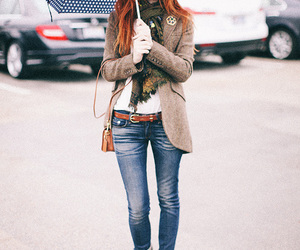 girl, umbrella, and fashion image