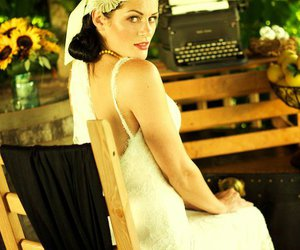 bride, gown, and vintage image