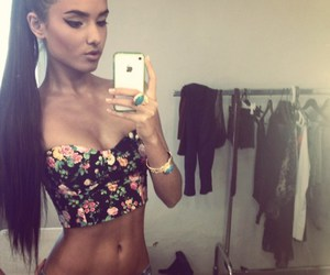 girl, hair, and body image