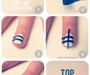 nails, blue, and tutorial image