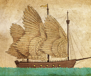 Dream, ship, and wings image