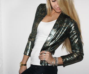 blazer, blonde, and clothes image