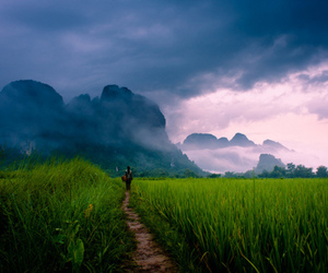 asia, nature, and mist image