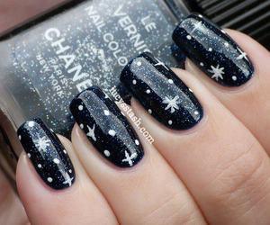 nails, black, and stars image