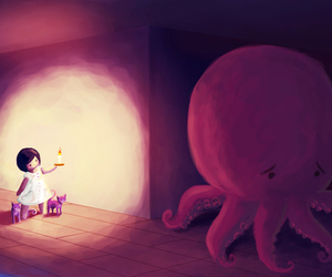 octopus and girl image