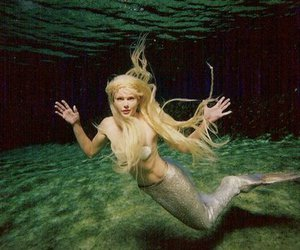 mermaid, blonde, and sea image