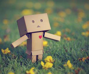 heart, danbo, and flowers image