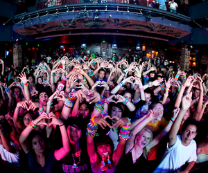 party, heart, and people image