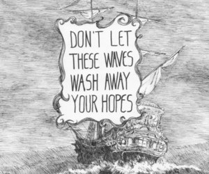 hope, quote, and waves image