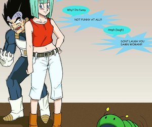 bulma, vegeta, and baby trunks image
