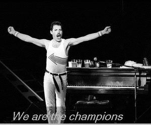 black and white, Freddie Mercury, and music image