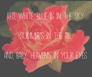 flowers, quote, and sky image
