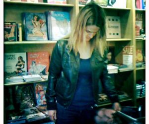 blonde, bookstore, and leisha hailey image