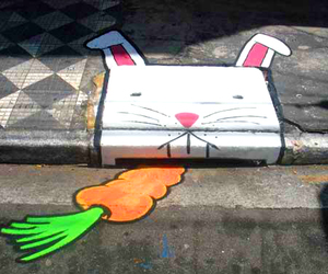 bunny, carrot, and rabbit image