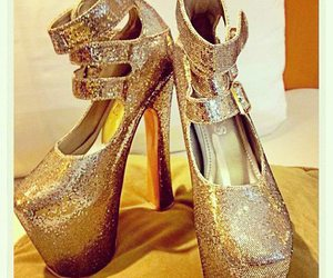 fashion, glitters, and high heels image