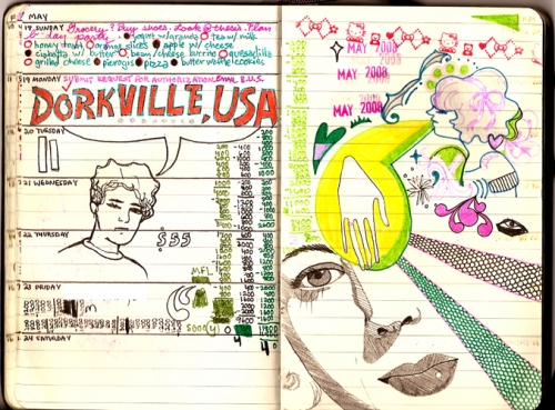 drawing, moleskine, and sketch image