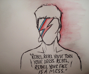 david bowie, rebel, and bowie image