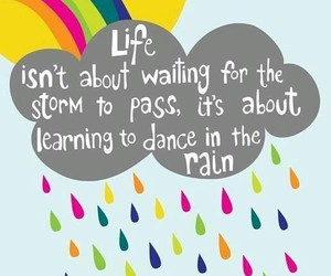 life, rain, and quotes image