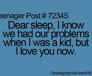 sleep, love, and problem image