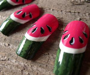 nails, watermelon, and melon image