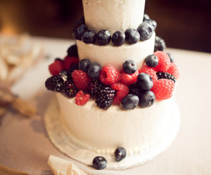 cake, dessert, and fruit image